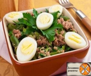Салат из стручковой фасоли и тунца