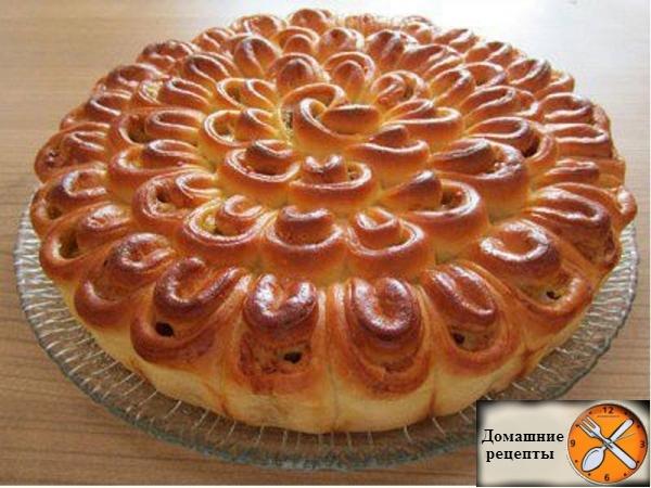 """Мясной пирог """"Хризантема"""""""