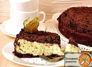 Шоколадно-творожный пирог