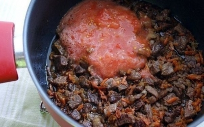 Картошка, тушеная с мясом