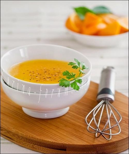 4. Апельсиновый соус с горчицей и кунжутом.