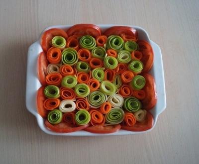 Красивая овощная запеканка