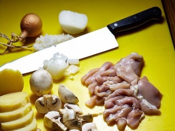 Фрикасе из курицы с картофелем