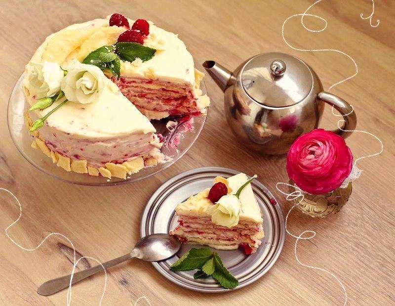 """Торт """"Наполеон с малиной"""""""