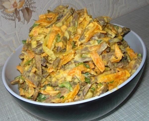 Печеночный салат