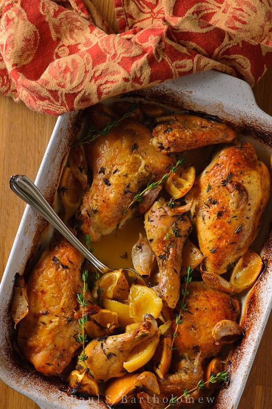 Томленая курица с апельсином и чесноком 1