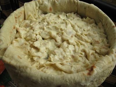 Быстрый пирог из лаваша  6