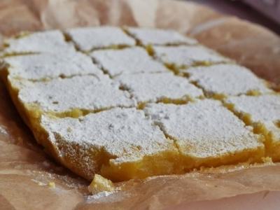 Лимонные пирожные (Lemon bars) 9