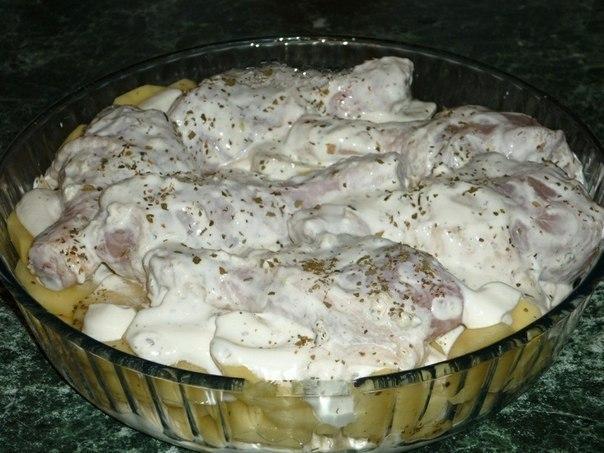 Картошка с куриными ножками в духовке 3