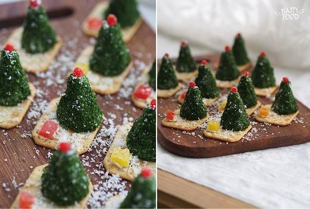 Сырные елочки к праздничному столу 7