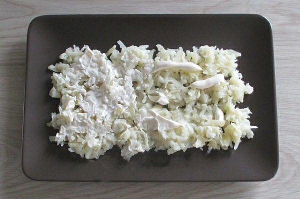 Салат с печенью трески 1