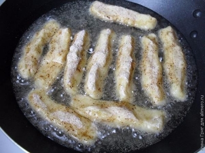 Оригинальная и простая закуска - картофельные палочки с грибами 4