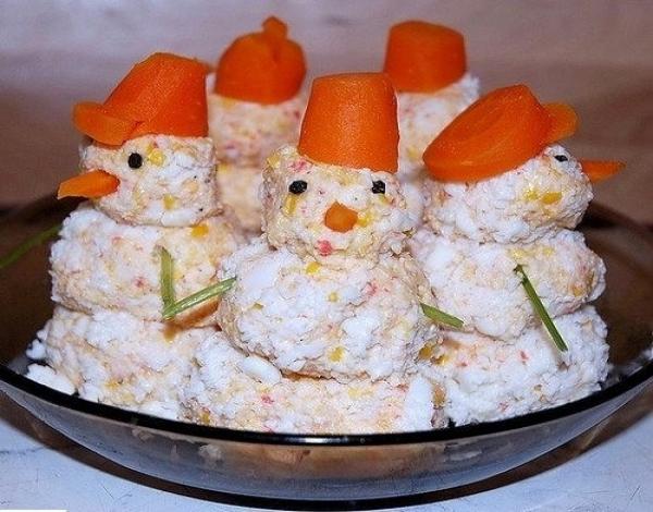 Закуска «Снеговик»