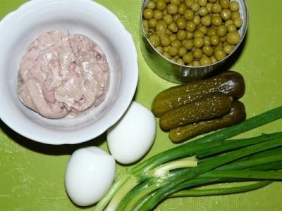 Салат из печени трески 2