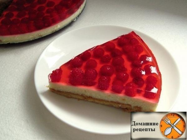 Творожно-малиновый торт 1