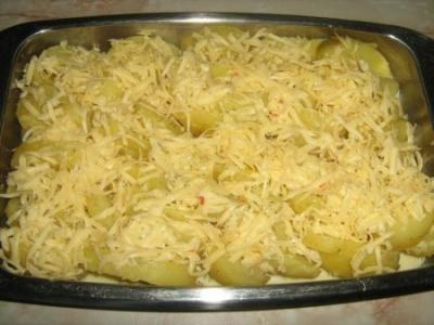 Картошка в сырном соусе 1