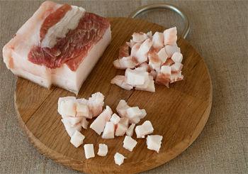 Домашняя печеночная колбаса с салом и чесноком 3