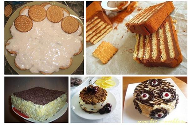 подборка тортов из печенья