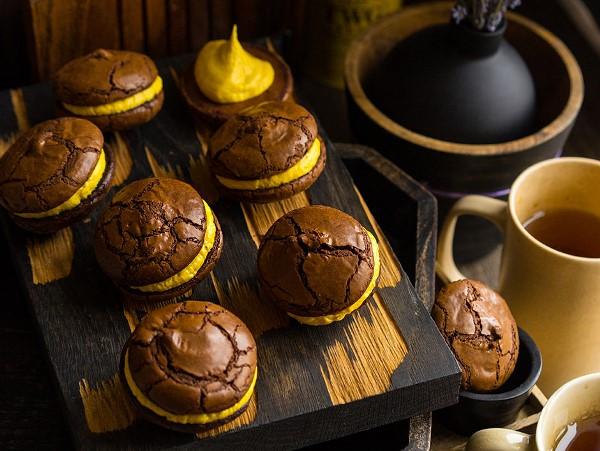 Печенье брауни с арахисовой пастой