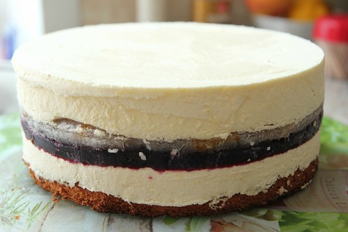 Персиково-смородиновый торт 6