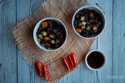 Черный рис с овощами 5