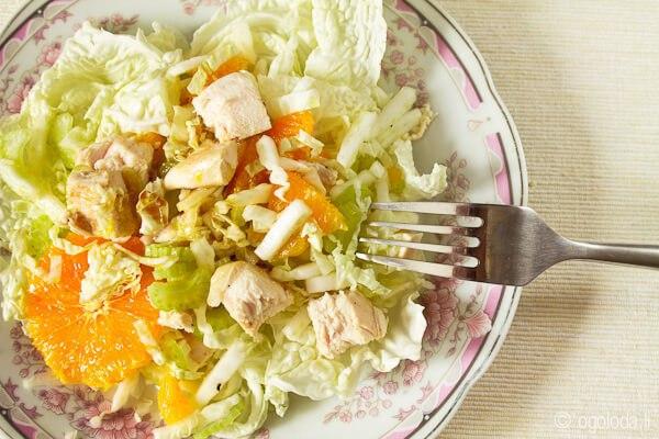 Салат с курицей и апельсинами