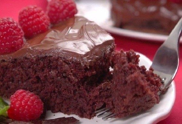 Моментальный шоколадный торт  1