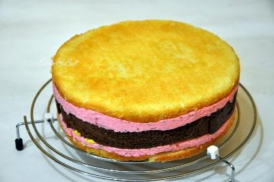 Шоколадно-цитрусовый торт с клубничным муссом 19