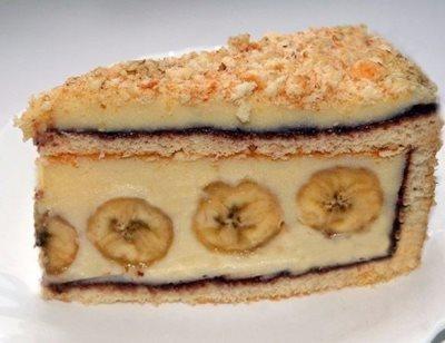 Торт с бананами 9